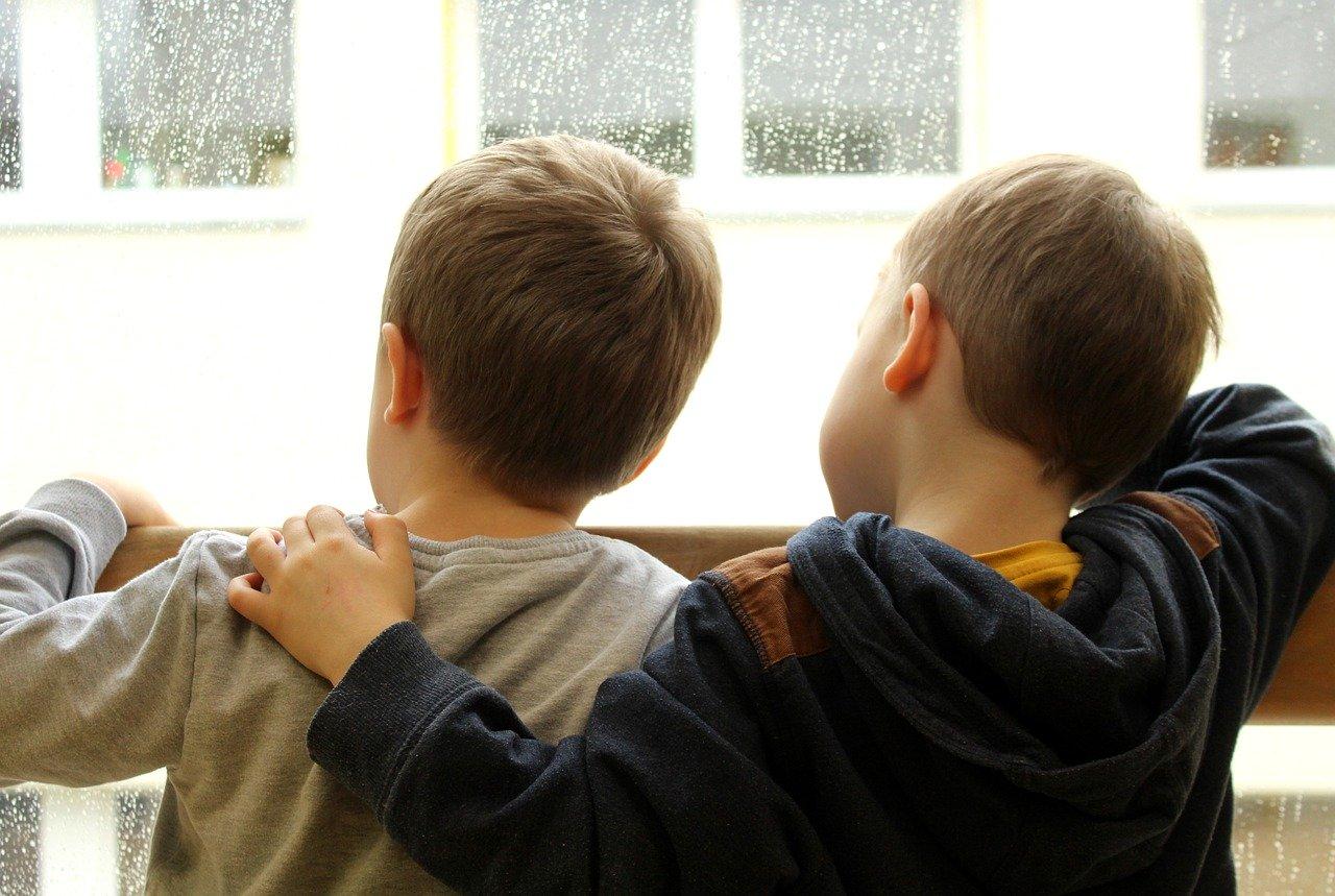 children, people, window