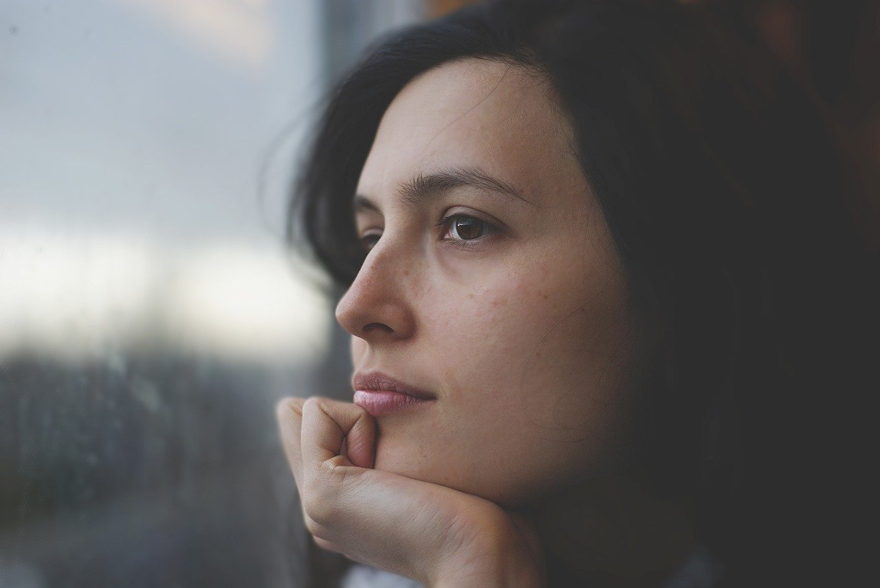 woman, thoughtful, pensive